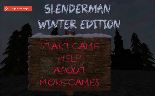 SlenderMan: Winter Edition