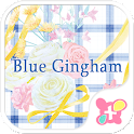 Flower Theme-Blue Gingham- icon