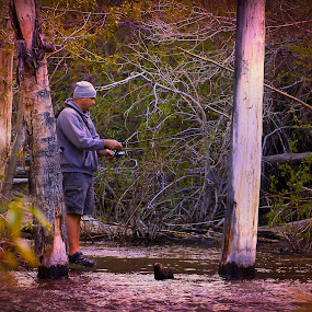 backcountry fishing by Jim Lancaster - Sports & Fitness Other Sports ( stream, outdoor, fishing, recreation, trout fishing )