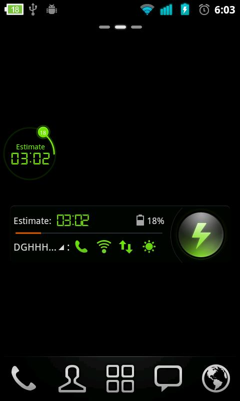Simple Theme GO Power Battery - screenshot