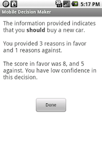 Mobile Decision Maker screenshot 1