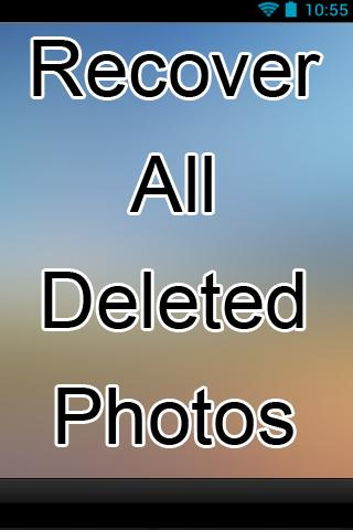 Recover All Deleted Photos
