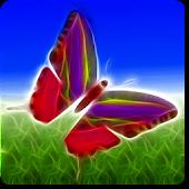Neon Butterfly Live Wallpaper+