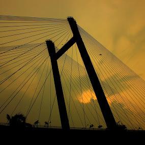 Vidyasagar Setu..!! by Prithwish Mondal - Buildings & Architecture Bridges & Suspended Structures
