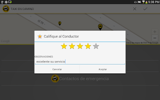 Screenshot of MiTaxi (Pasajero)