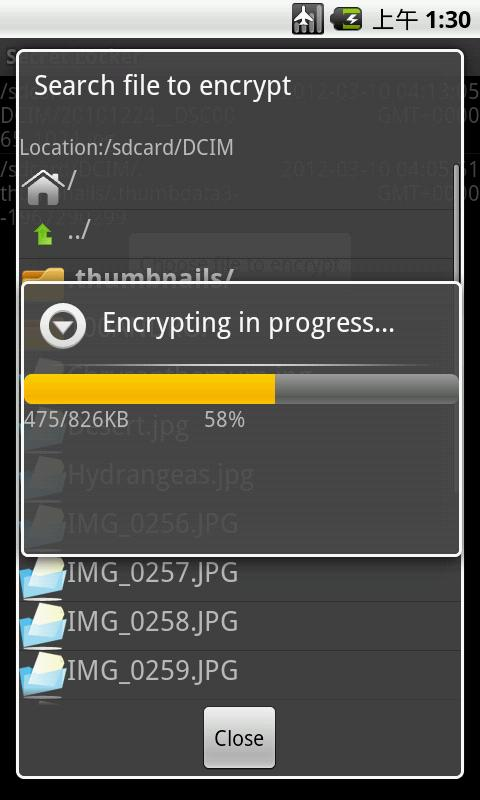 Secret File Locker Pro- screenshot