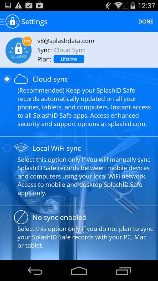 SplashID Safe Password Manager- screenshot