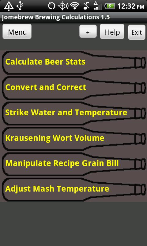 Beer Stats and Conversions - screenshot