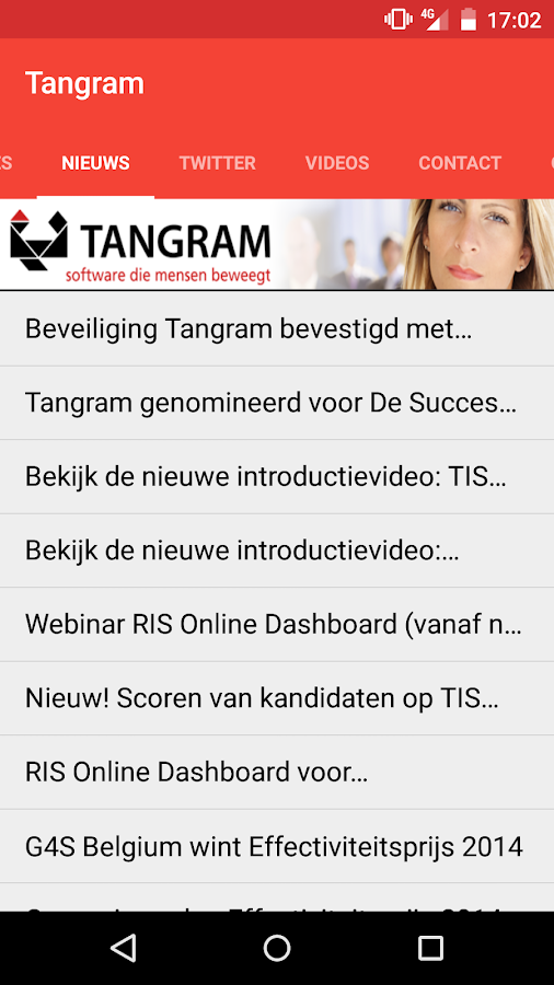 Tangram Recruitment App - screenshot