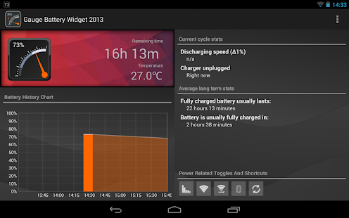 Gauge Battery Widget 2014 - screenshot thumbnail