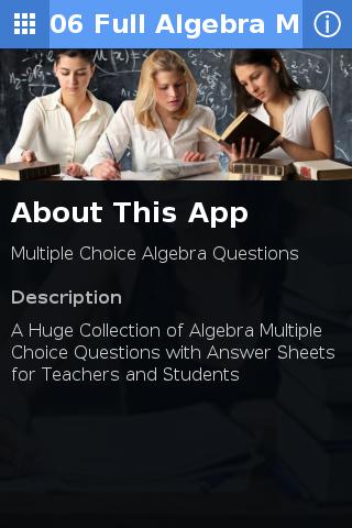 A-Z Algebra Worksheet