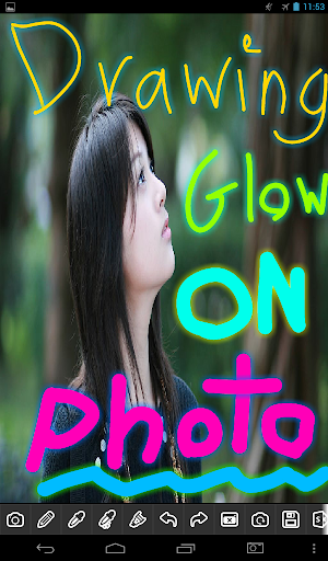 Glow Paint Draw on Photo