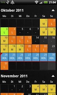 shift calendar- screenshot thumbnail
