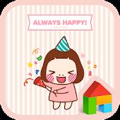 cute always happy dodol theme