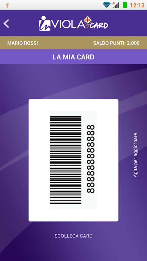 InViola Card- screenshot