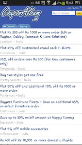 CouponAlbum India screenshot 1