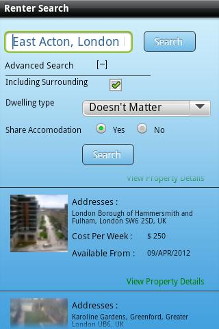 yChatter Rent a Room Flatshare - screenshot