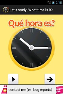 What time is it? in Spanish.- screenshot thumbnail