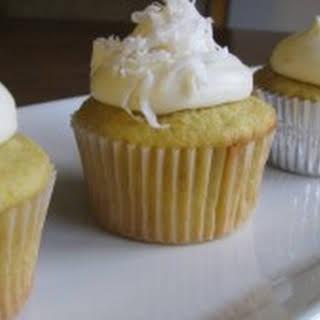 Orange Coconut Cupcakes.