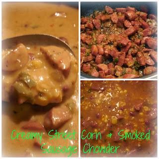 Creamy Street Corn & Smoked Sausage Chowder