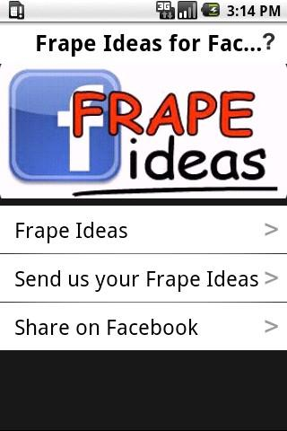 Frape Ideas for Facebook - screenshot