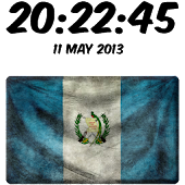 Guatemala Digital Clock