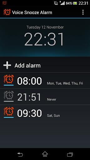 Voice Snooze Alarm
