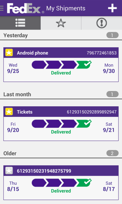 FedEx Mobile - screenshot