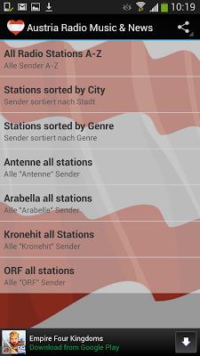Austria Radio Music & News - screenshot