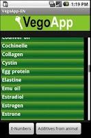 Screenshot of VegoApp EN