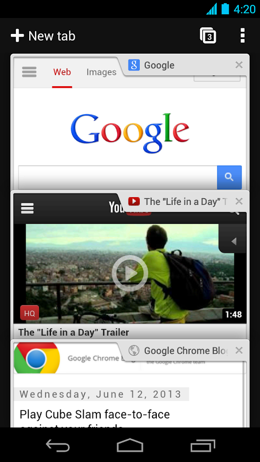 Navegador Chrome - Google - screenshot
