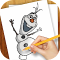 Drawing Lessons Ollaf Frozen APK baixar