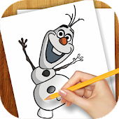 Game Drawing Lessons Ollaf Frozen version 2015 APK