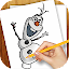 Drawing Lessons Ollaf Frozen for Lollipop - Android 5.0