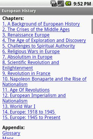 European History - screenshot