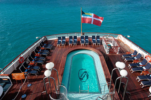 pool-deck-SeaDream - Cool off in the pool while taking in the passing sights during your SeaDream cruise.