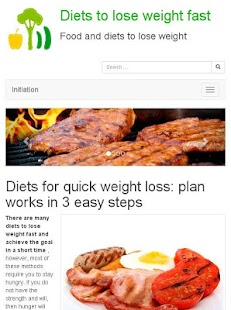 Diets to lose weight fast- screenshot thumbnail