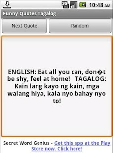 Funny Quotes Tagalog- screenshot thumbnail