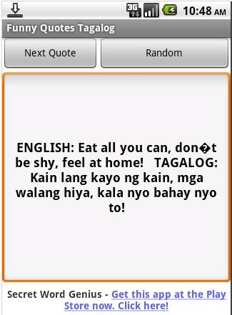Funny Quotes Tagalog- screenshot