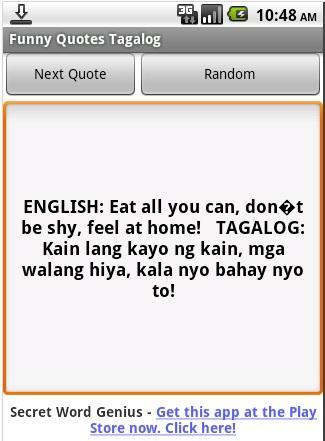 Funny Quotes Tagalog Versionnamefunny Screenshot