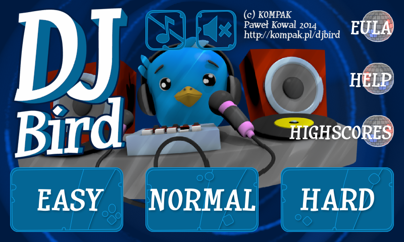 DJBird Q*bert clone- screenshot