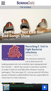 ScienceDaily - screenshot thumbnail