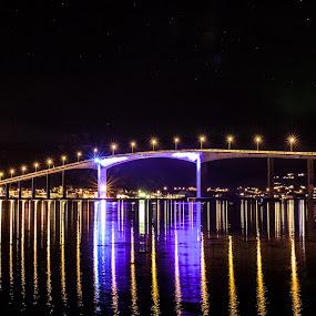 Blue bridge by Benny Høynes - Buildings & Architecture Bridges & Suspended Structures ( 3, vesterålen, 201city, bridge, light, norway )