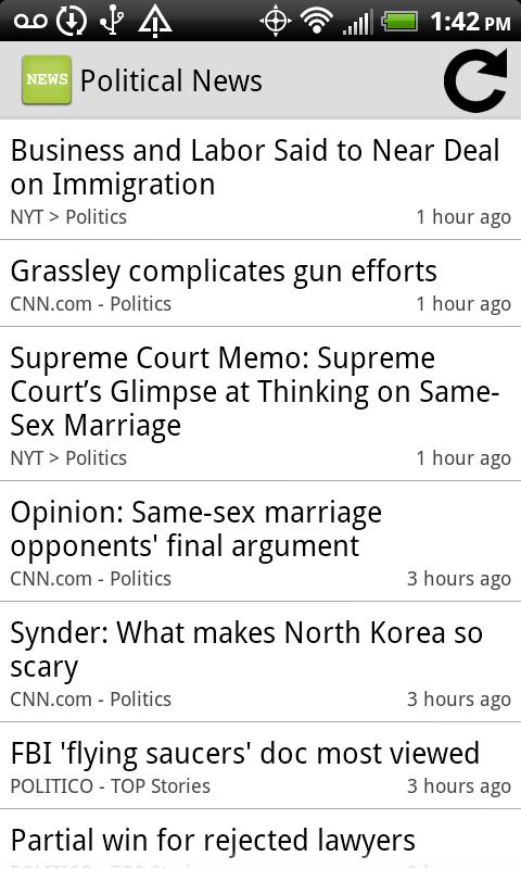 Political News- screenshot