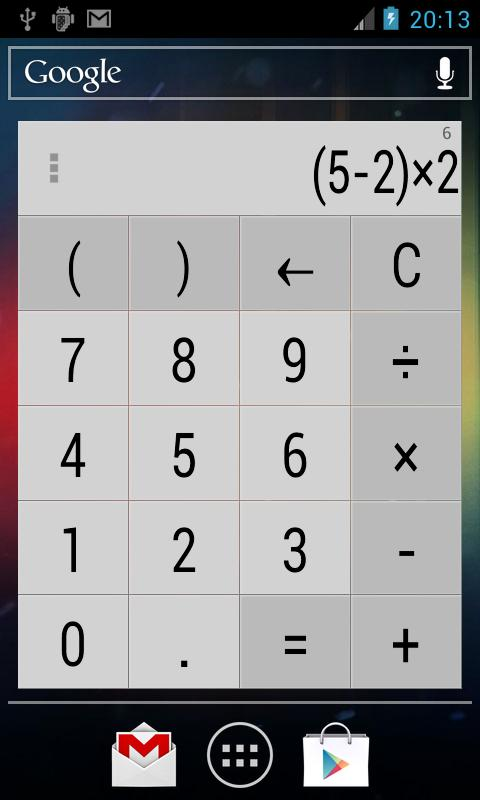 Calculator Widget 10 themes - screenshot