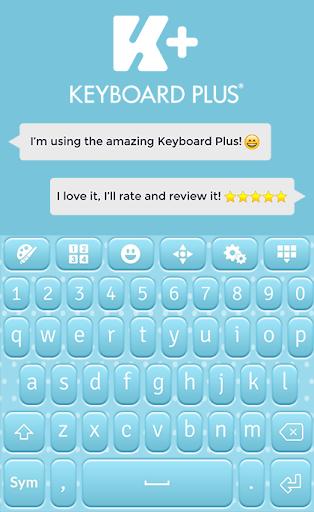 ベビーブルーのキーボードのテーマ