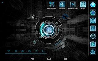Screenshot of Black mechanic Atom Theme
