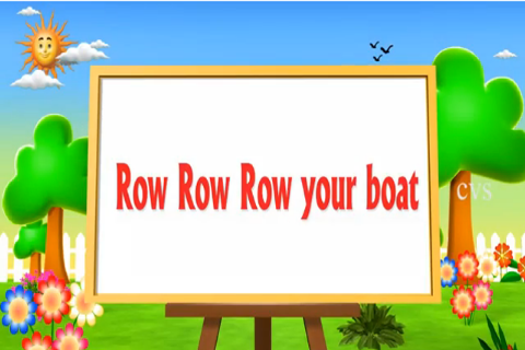 Kids Rhyme Row Row Your Boat