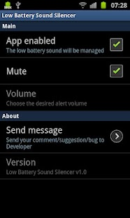 Low Battery Sound Silencer - screenshot thumbnail