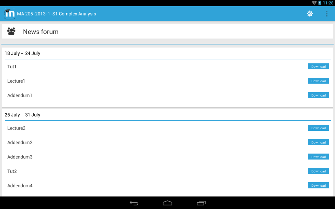 MDroid- screenshot